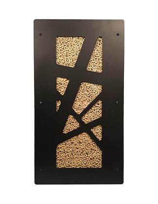 Rangement à pellets GRANULEBOX modèle ARCHI NOIR contenance 55kg