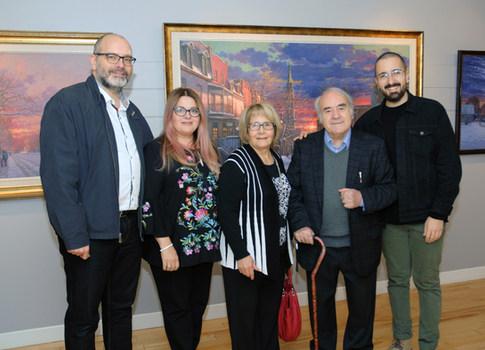 Ma famille: mon gendre Alain, ma fille Sonia, mon épouse Angela et notre petit-fils Alexandre.