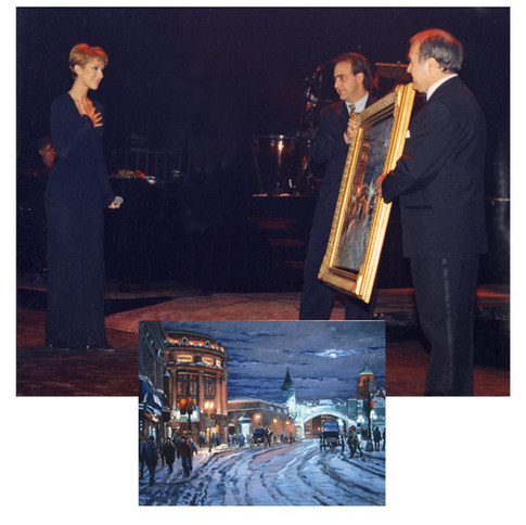 Me Céline Dion sur la scène du Capitol de Québec