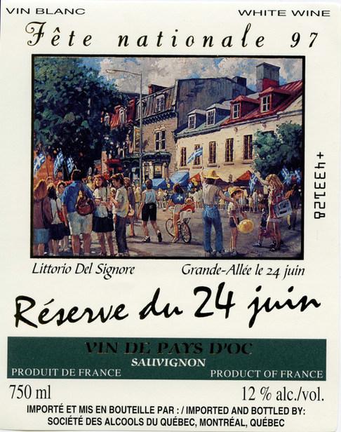 Vin de la Fête Nationale 24 Juin 1997 SAQ