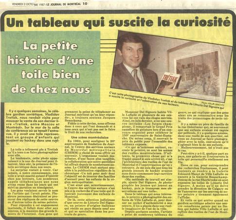 Journal de Montréal, 2 Octobre 1987