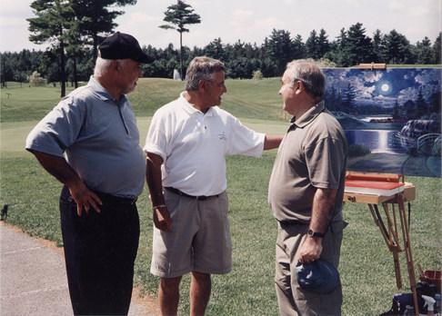 Club de Golf Le Mirage - en compagnie de M. René Angélil✝    et M. Michel Bergeron