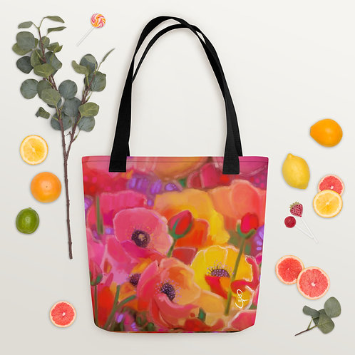 Tote bag Poppies