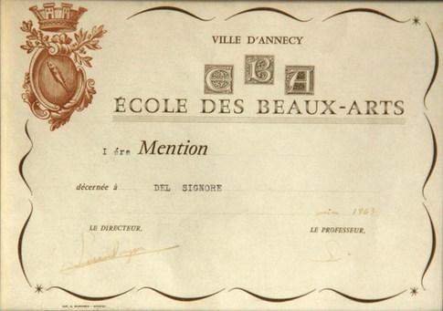 École des Beaux-Arts d'Annecy, France  (1963)
