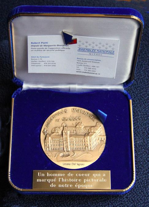 Médaille de l'Assemblée Nationale du Québec