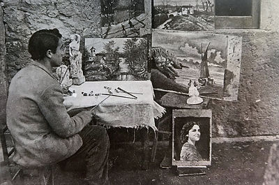 devant sa maison Italie 1951
