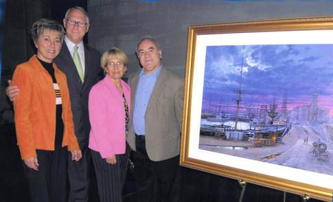Mon épouse Angela, M. Tremblay ex-maire de Montréal, et Mme Barbe mairesse de LaSalle