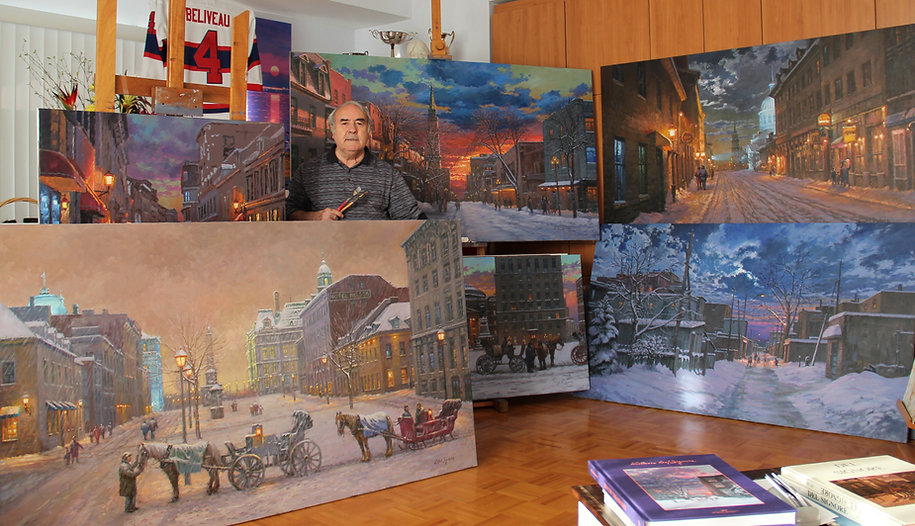 littorio del signore in his studio in Montreal