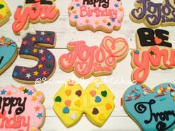 JoJo Siwa Decorated Sugar Cookies
