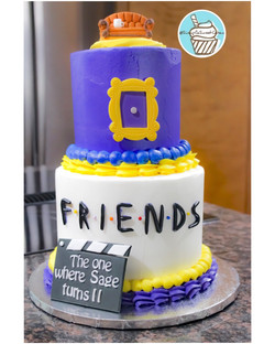 F.R.I.E.N.D.S-theme Birthday Cake