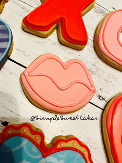Valentines Cookie - Pink Lips