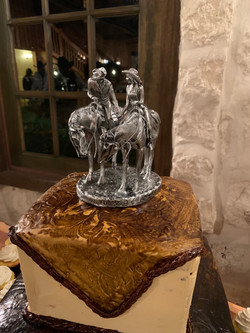 "Groom's Cake Topper ""Two Trails Become O"