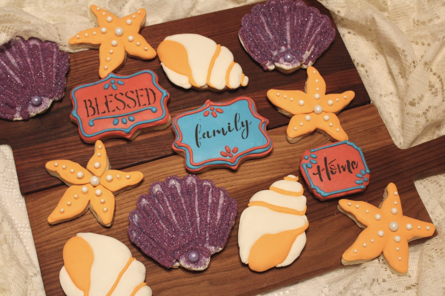 Seashells & Family Sugar Cookies