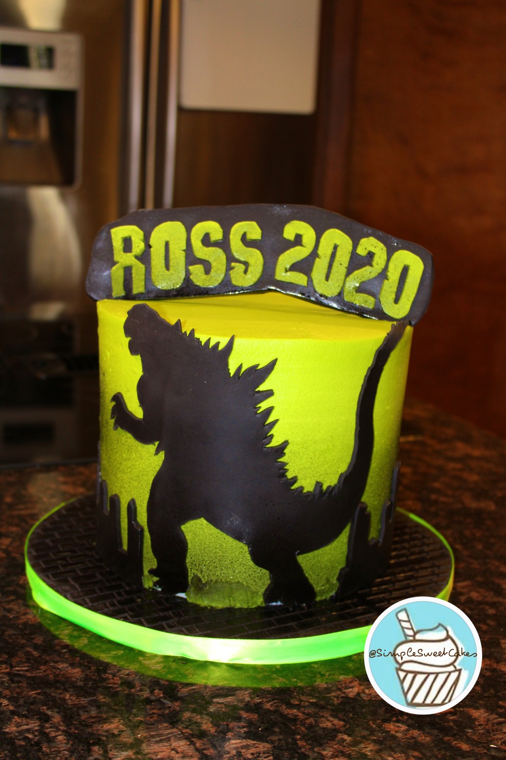 Godzilla Cake: Vanilla with Buttercream