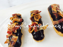 Bacon & Chocolate Eclairs