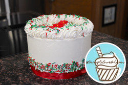 Holiday Sprinkles Tree Cake