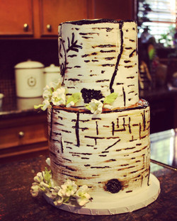 Birch Tree Bark Fondant