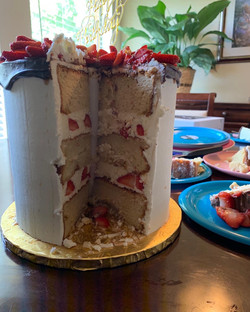 Strawberry Cake layers
