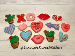 Assorted Valentine Decorated Sugar ookie