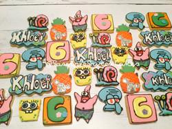 Spongebob Squarepants Decorated Sugar Cookies