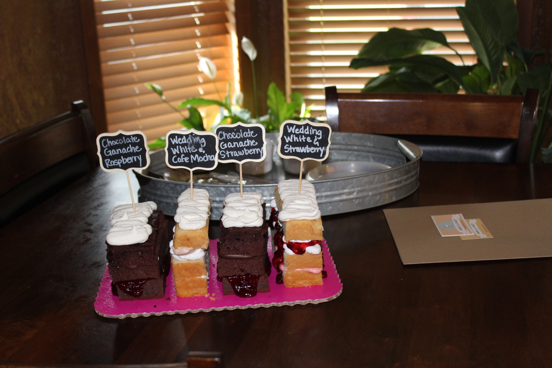 Jordan's Wedding Cake Tasting