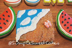 Decorated Sugar Cookies - Beaches (Pimk)