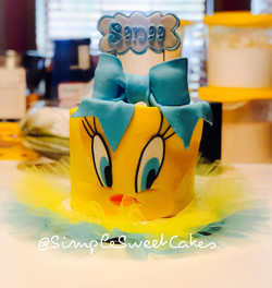 Tweety Bird 1st Birthday Cake