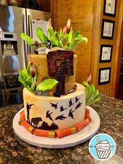 "Senior Serve Cake with ""Duck Hunting"" Th"