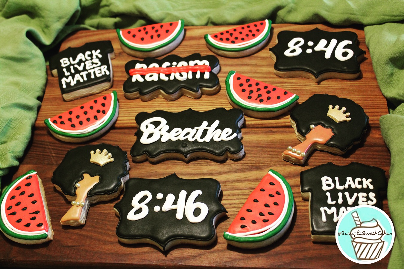 Decorated Sugar Cookies - Black Lives Ma