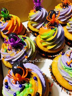 Spiked Halloween Cupcakes - Vanilla Henn