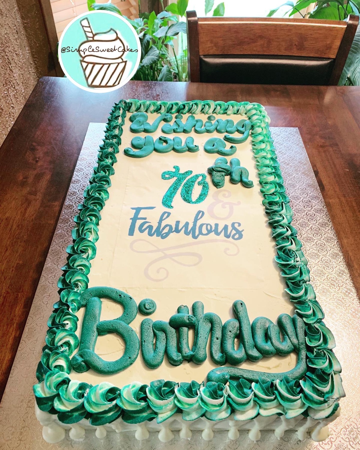 Florence You're 70 & Fabulous! Lemon Cak