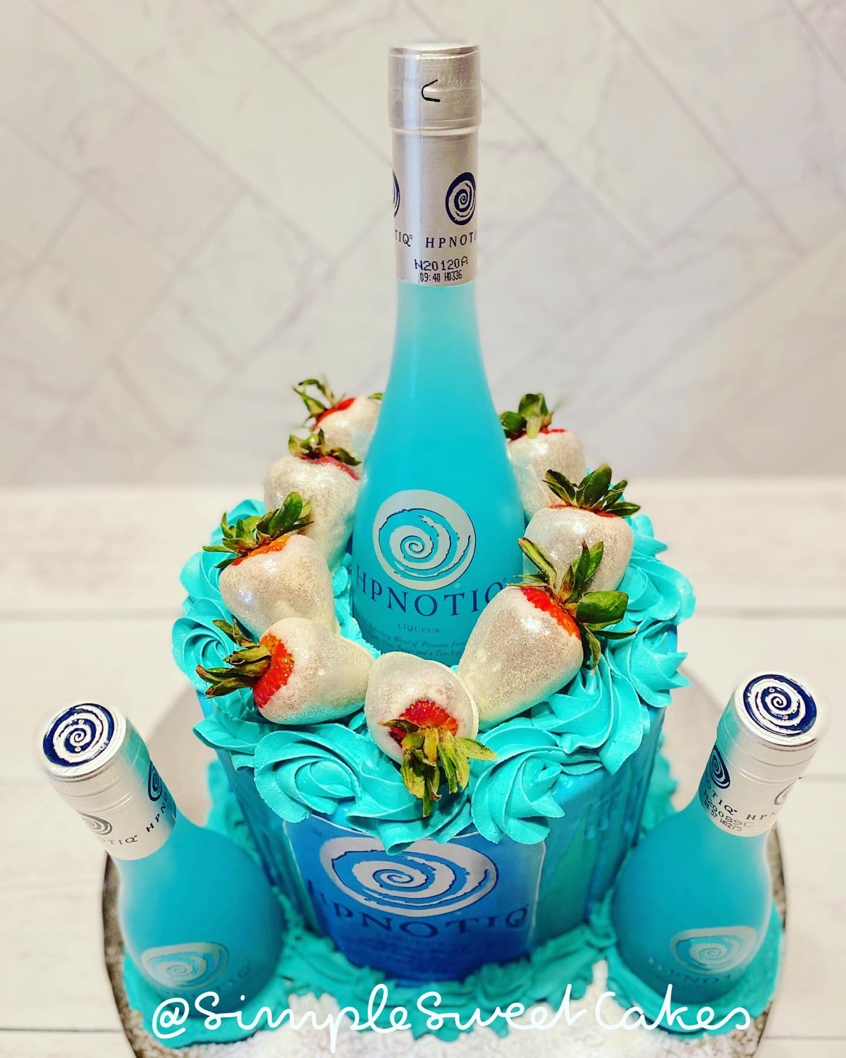 View from the Top - Hpnotiq Cake