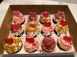 Assorted Valentine's Day Cupcakes