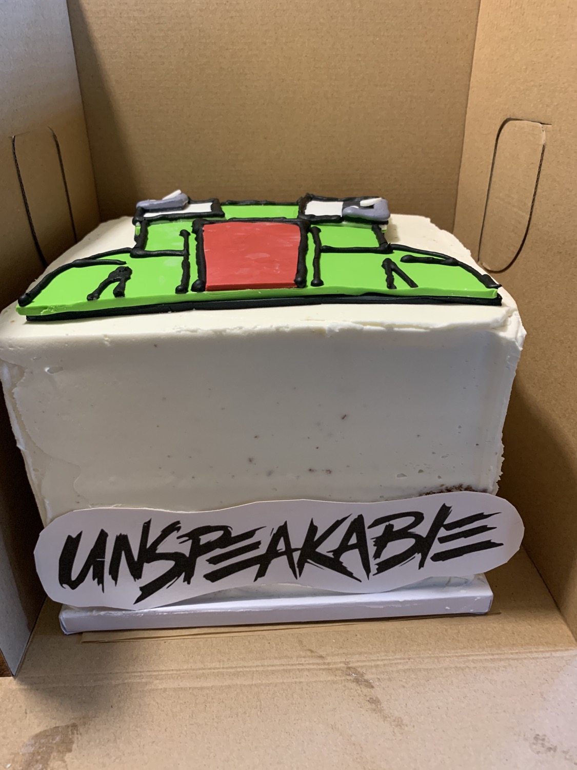 Unspeakable Birthday Cake