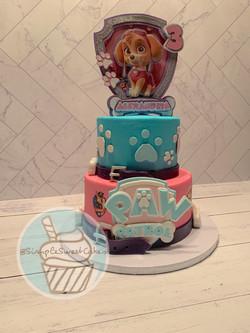 Paw Patrol (Skye) Cake - Happy 3rd Birthday Alexandria!