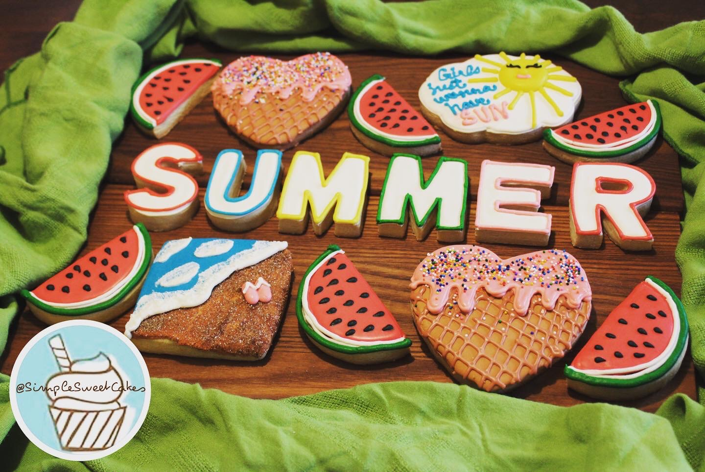 Decorated Sugar Cookies - Summertime