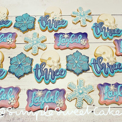 Frozen-themed Sugar Cookies