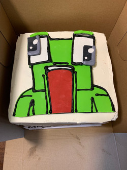 Unspeakable Frog Birthday Cake