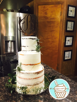 Rustic Naked Wedding Cake
