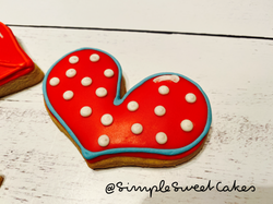 Valentines Cookie - Heart and Polka Dots