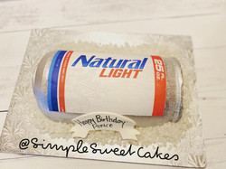 Natural Light Beer Inspired Cake