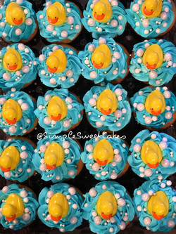 Rubber Ducky Babyshower Cupcakes
