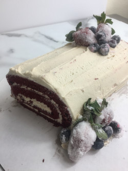 Red Velvet Sponge Yule Log