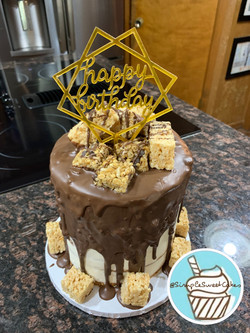Chocolate Granola & Rice Krispies Cake