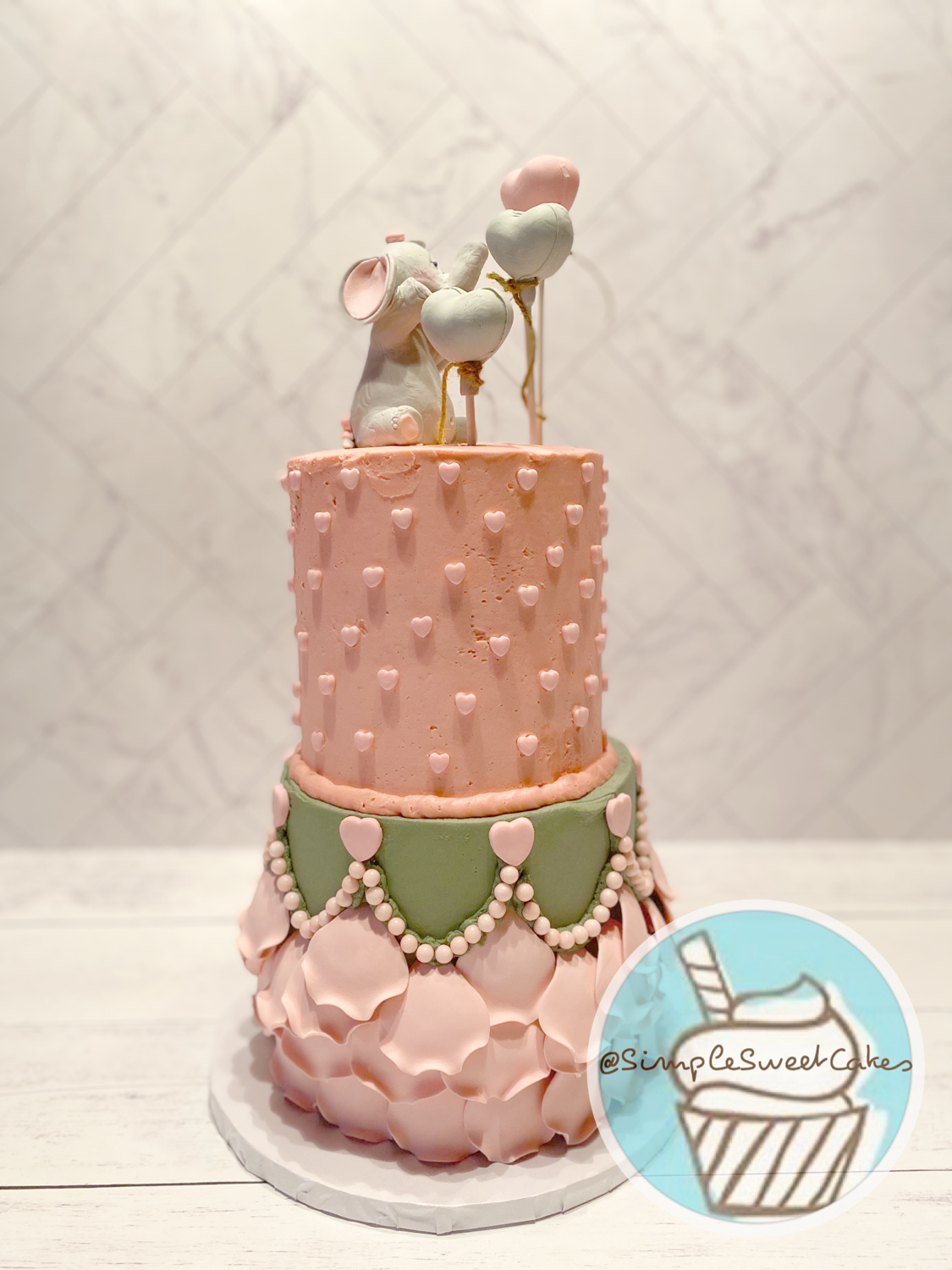 Welcome Baby Girl Shower Cake