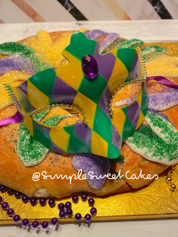 King Cake Close-Up