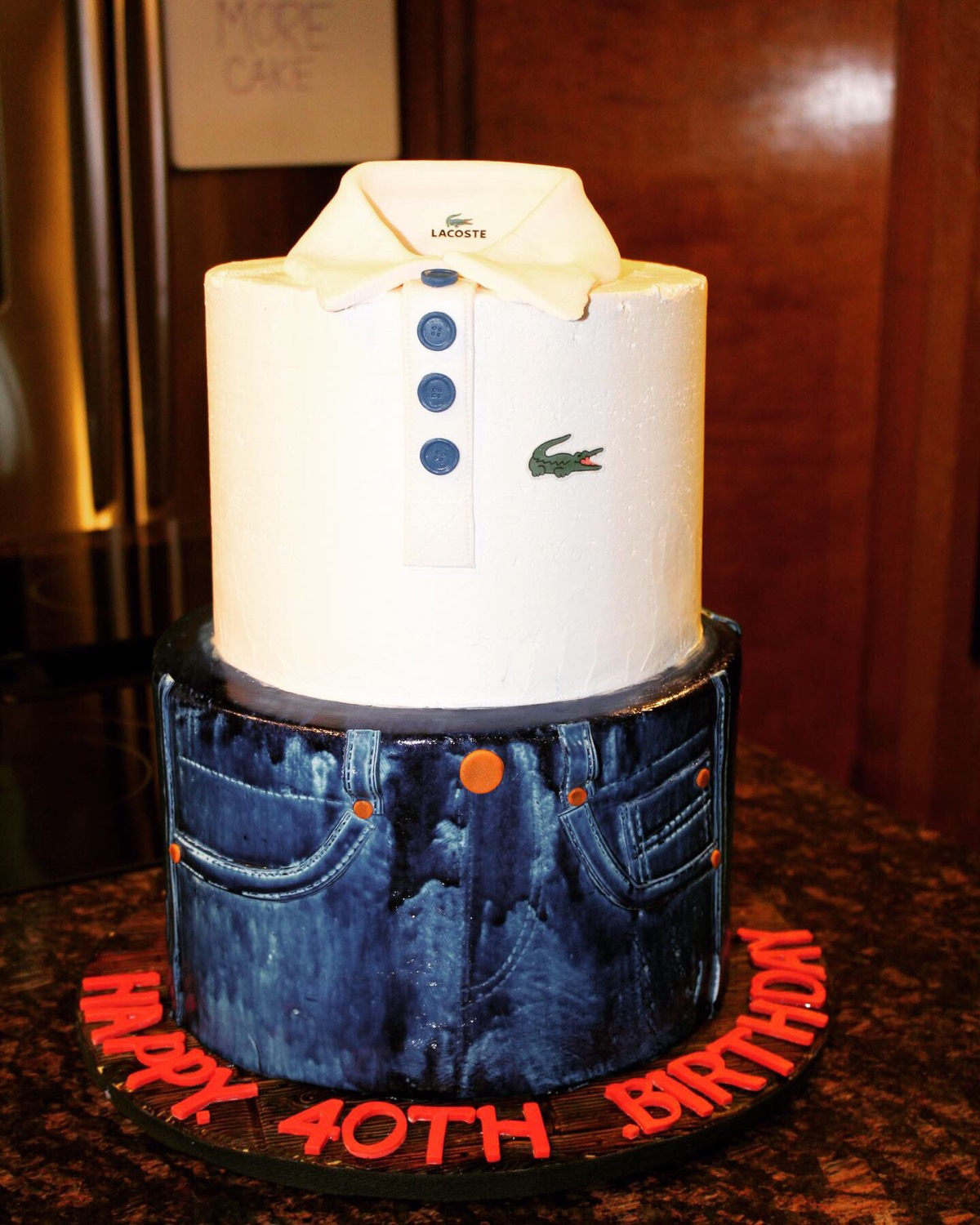 Designer Denim 40th Birthday Cake