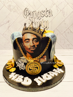 Gangsta Party Cake - HBD Noah!