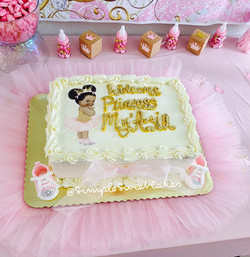 Welcome Princess My'Asia - Baby Shower Cake