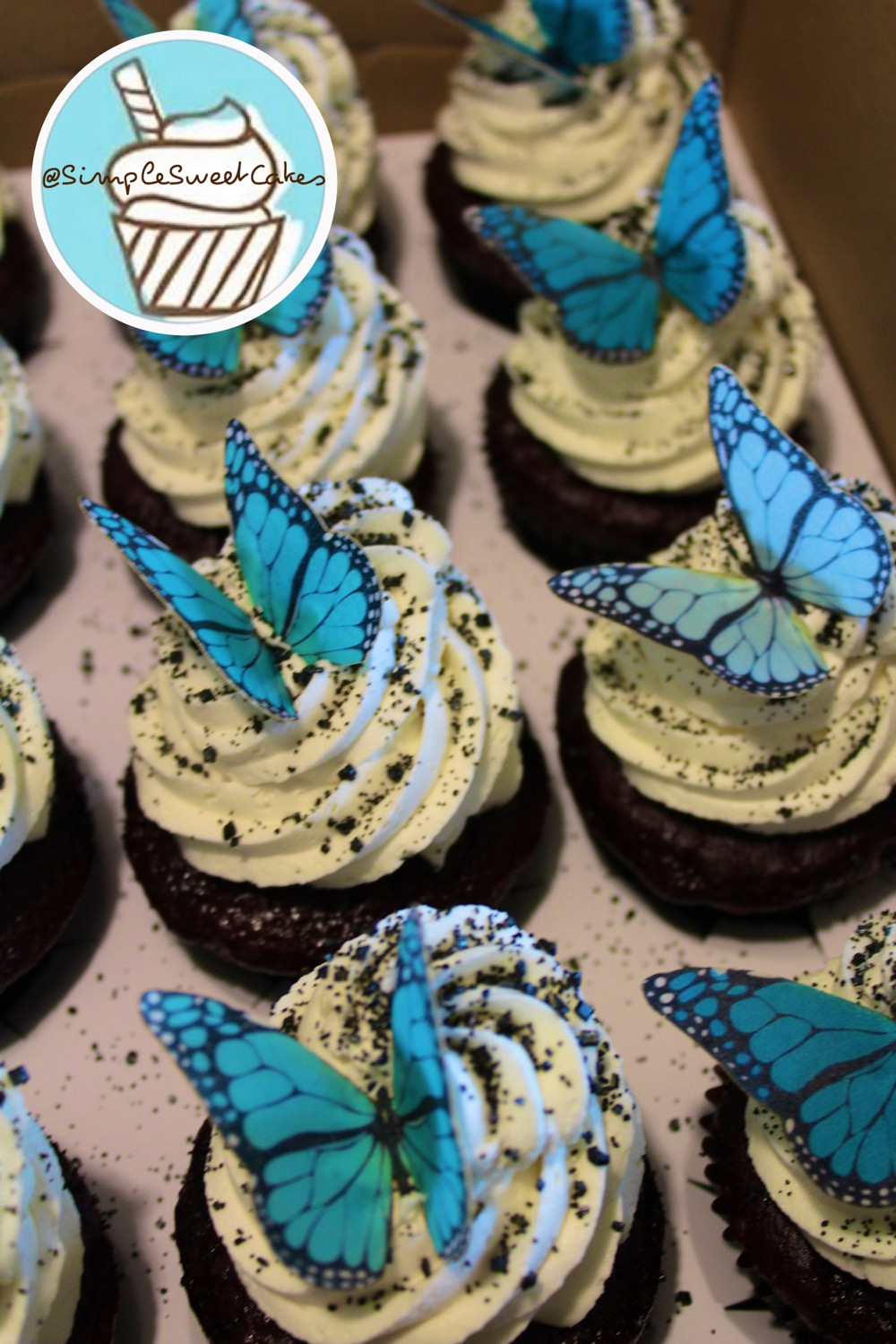 Monarch Butterflies - Red Velvet Cupcake